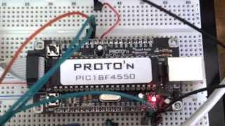 PROTO'n Web Server/ Microchip TCP IP Stack - PIC 18F4550 + ENC28j60