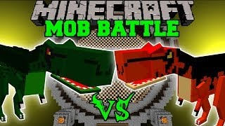 getlinkyoutube.com-T-REX VS ALOSAURUS - Minecraft Mob Battles - OreSpawn Dinosaurs Mod Battle