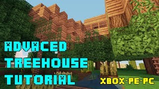 getlinkyoutube.com-Minecraft - Advanced Treehouse Tutorial - Xbox/PE/PS3/PC (Quick and Easy!)