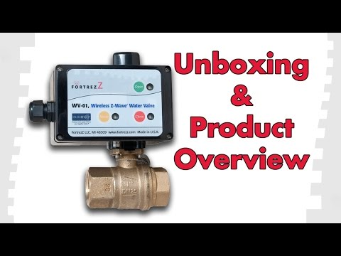 FortrezZ Wireless Water Valve Unboxing & Product Overview