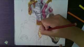 getlinkyoutube.com-Drawing Kratos