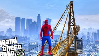 getlinkyoutube.com-GTA 5 PC SpiderMan Mod - SPIDERMAN VS ZOMBIE INVASION (Grand Theft Auto 5 Spider-Man)