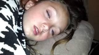 Girls eyes open while sleeping 2