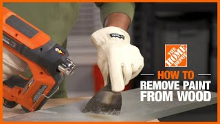 A video details how to remove paint from wood.