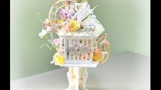 getlinkyoutube.com-♬ Mixed Media Shabby Chic Altered Bird Cage For SaCrafters (Start-to-Finish)