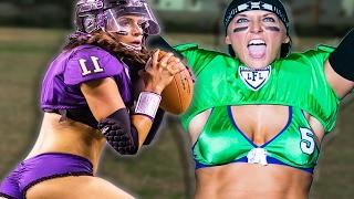 getlinkyoutube.com-Women Try Lingerie Football