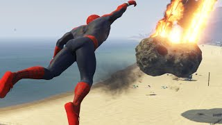 "getlinkyoutube.com-GTA 5 Mods ""SPIDERMAN VS METEORS"" (GTA 5 Spiderman Mod, GTA 5 Meteors Mod, GTA 5 Funny Moments)"
