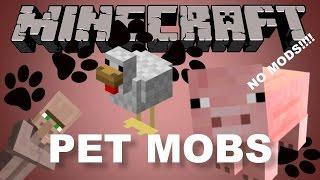 getlinkyoutube.com-Pet Mobs in Minecraft 1.8 --- NO MODS!!!
