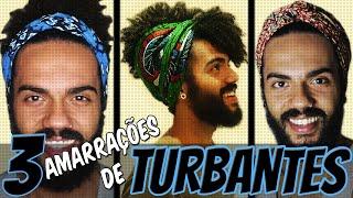 getlinkyoutube.com-AMARRAÇÃO DE TURBANTE • Crespo e Cacheado Masculino • Feels Black