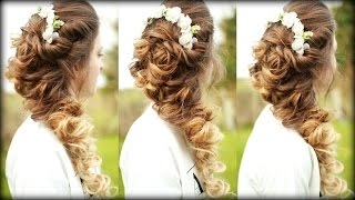 getlinkyoutube.com-Easy Cascading Curls Hairstyle | Prom Hairstyles | Braidsandstyles12