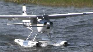 getlinkyoutube.com-Cessna A185E Floatplane Takeoff CSU3