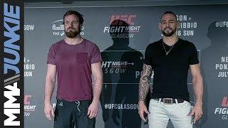 UFC Fight Night 113 media day face-offs