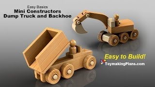 getlinkyoutube.com-Wood Toy Plans - Mini Dump Truck and Backhoe