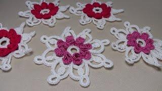 getlinkyoutube.com-УРОК ВЯЗАНИЯ крючком. Цветы вязаные.Ирландское кружево.Crochet flower.