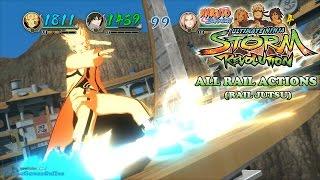getlinkyoutube.com-All Rail Actions / Jutsu - Naruto Shippuden Ultimate Ninja Storm Revolution [1080p]