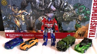 getlinkyoutube.com-TRANSFORMERS 4 Age of Extinction AUTOBOT PLATINUM EDITION Autobots United 5 pack | ATR