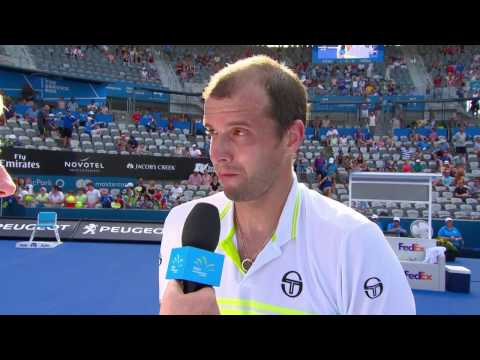 Gilles Muller On Court Interview (SF) | Apia International Sydney 2017
