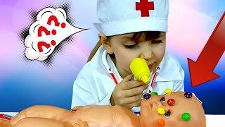 getlinkyoutube.com-ИГРАЕМ В ДОКТОРА ЛЕЧИМ СКИТЛСТРЯНКУ! Новое видео для детей. Игры с куклами для девочек