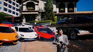 getlinkyoutube.com-Gta 5 Lamborghini Delivery - Michael's Collection (Real Car Mods) - REDUX VERSION