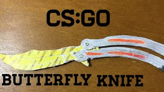 getlinkyoutube.com-How to make a paper CS:GO Butterfly knife