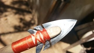 getlinkyoutube.com-DIY wooden arrows with feather fletching and duct tape fletching- contest The Art of Weapons