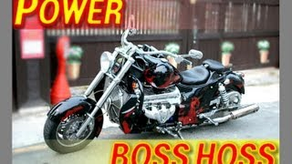 getlinkyoutube.com-19. V8 8000cc Motorcycle. BOSS HOSS Burnout
