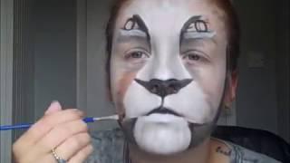 getlinkyoutube.com-Lion face paint