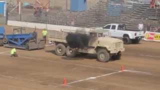 getlinkyoutube.com-Sublimity Harvest Festival Tractor pull 2014 - m923a2 5 ton 6x6 445 foot pull