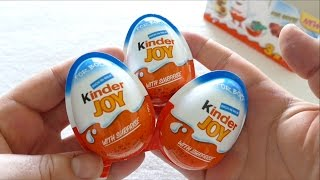 getlinkyoutube.com-Kinder JOY Surprise Eggs for BOYS