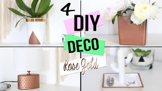 getlinkyoutube.com-DIY ┋4 DECO TENDANCES CUIVRE - ROSE GOLD POUR CHAMBRE / SALON/ BUREAU ROOM DECOR