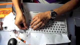 getlinkyoutube.com-Replace liquid damaged keyboard of 2011 Apple Macbook Air