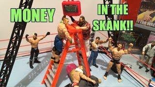 getlinkyoutube.com-GTS WRESTLING: Money in the Bank! WWE figure matches animation! Mattel Elites ladder match!