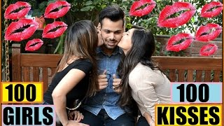 getlinkyoutube.com-One Guy 100 Kisses 100 Girls  Possible In India  ?