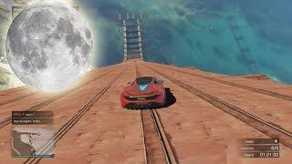 getlinkyoutube.com-GRAVEDAD LUNAR - Gameplay GTA 5 Online Funny Moments (Carrera GTA V PS4)