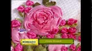 getlinkyoutube.com-Hilda Rinaldi - Bienvenidas TV - Toallas bordadas con Cintas