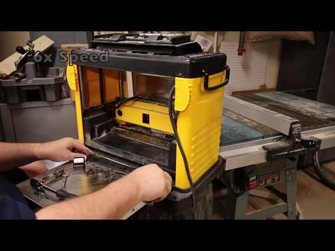 Removing and sharpening the DW733 Planer Blades Youtube Thumbnail