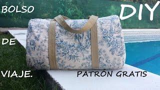 getlinkyoutube.com-Bolso de viaje (Patrón gratis). Como hacer un bolso.