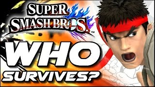 getlinkyoutube.com-Super Smash Bros WHO CAN SURVIVE Ryu's Shoryuken in Lava Trap? (Wii U)