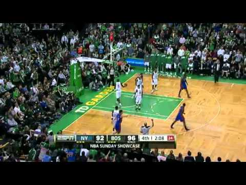 NBA New York Knicks Vs Boston Celtics Recap 03/04/2012 Rondo 3D