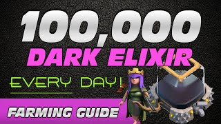 getlinkyoutube.com-Farm 100K+ Dark Elixir EVERY DAY - Quickly MAX Your Heroes!
