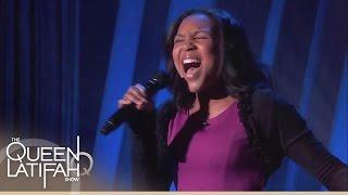 getlinkyoutube.com-13-Year-Old Jazz Singer Wows Queen! | The Queen Latifah Show