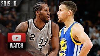 getlinkyoutube.com-Kawhi Leonard vs Stephen Curry EPIC Battle Highlights (2016.03.19) Spurs vs Warriors - WCF Preview?
