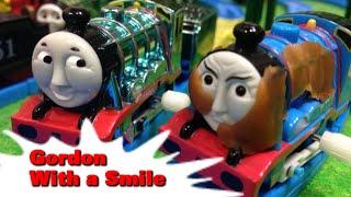 "getlinkyoutube.com-トーマス プラレール ガチャガチャ ニコニコゴードン Tomy Plarail Thomas ""Gordon With a Smaile"""