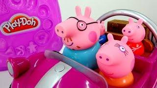 getlinkyoutube.com-Свинка Пеппа мультик с игрушками для детей.  Едем в кондитерскую. Сладости для всей семьи.