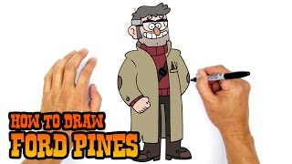 getlinkyoutube.com-How to Draw Ford Pines | Gravity Falls