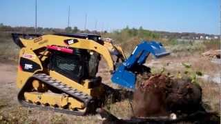 getlinkyoutube.com-DEMO-DOZER SKID STEER GRAPPLE ATTACHMENT BEST BUCKET PERIOD! ALL AMERICAN MADE