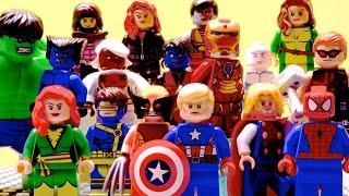 getlinkyoutube.com-Lego Avengers and X-Men - Edge of Extinction