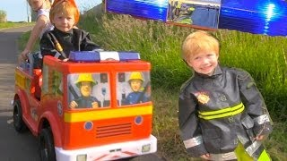 getlinkyoutube.com-FireMan Sam Jupiter Ride On Fire Engine Toy - With Emergency Lights and Sirens