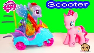 getlinkyoutube.com-MLP Pinkie Pie RC Sound Remote Control Scooter My Little Pony + Rainbow Dash Ride