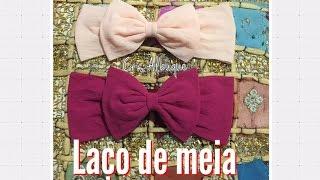 getlinkyoutube.com-Laço de meia de seda - FÁCIL, rápido e barato! Pap by Cris Albuque